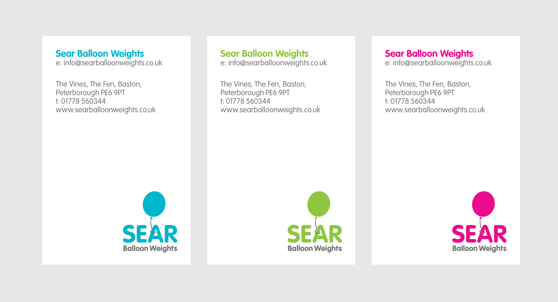Client work: Sear Balloon Weights