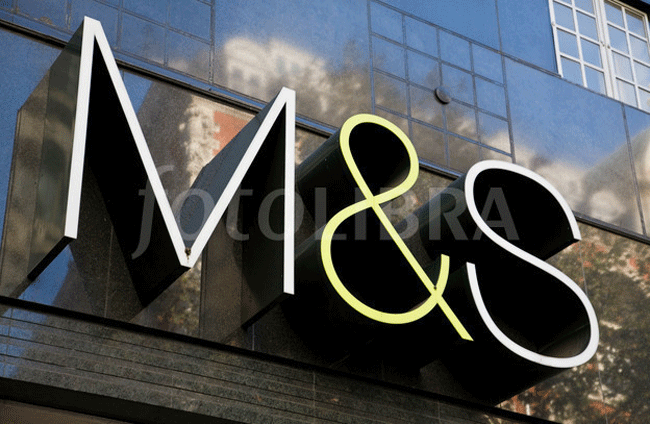 Marks and Spencer shop front: new logo