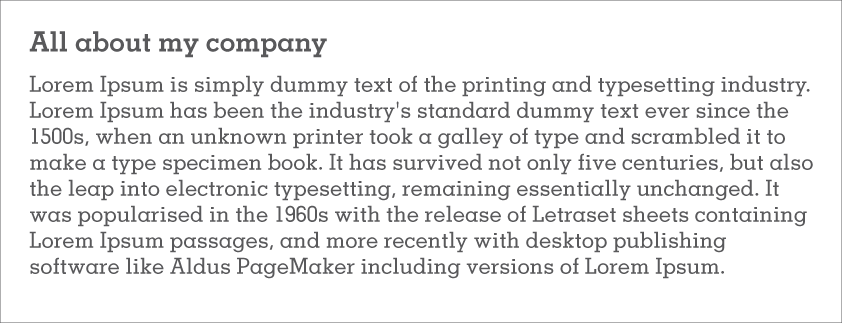 Dummy copy: grey