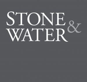 Stone & Water logo: grey
